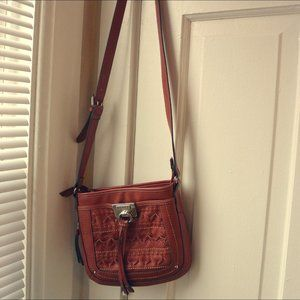 Chaps Coral Crossbody faux-leather purse